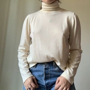 Escada Cream Turtleneck Sweater